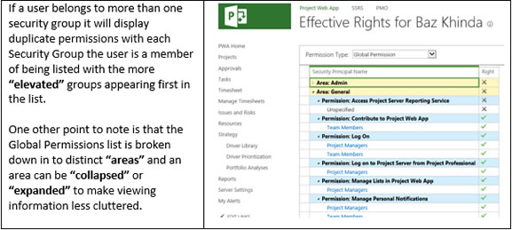 Security Category Settings - Microsoft Project