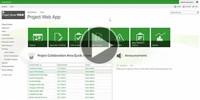 Introduction and navigation in Microsoft Project Server - Watch video now