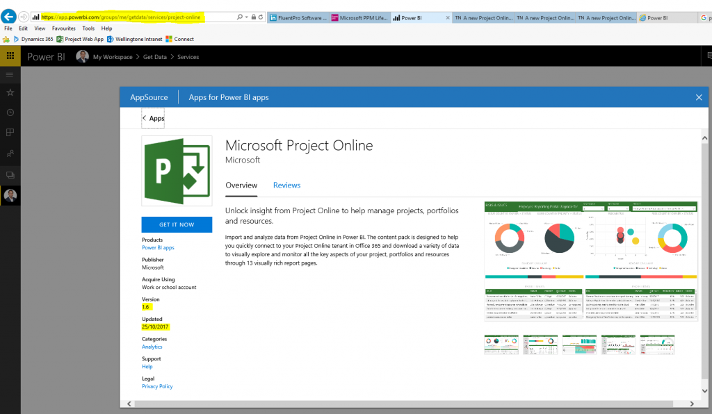Power BI for Microsoft Project