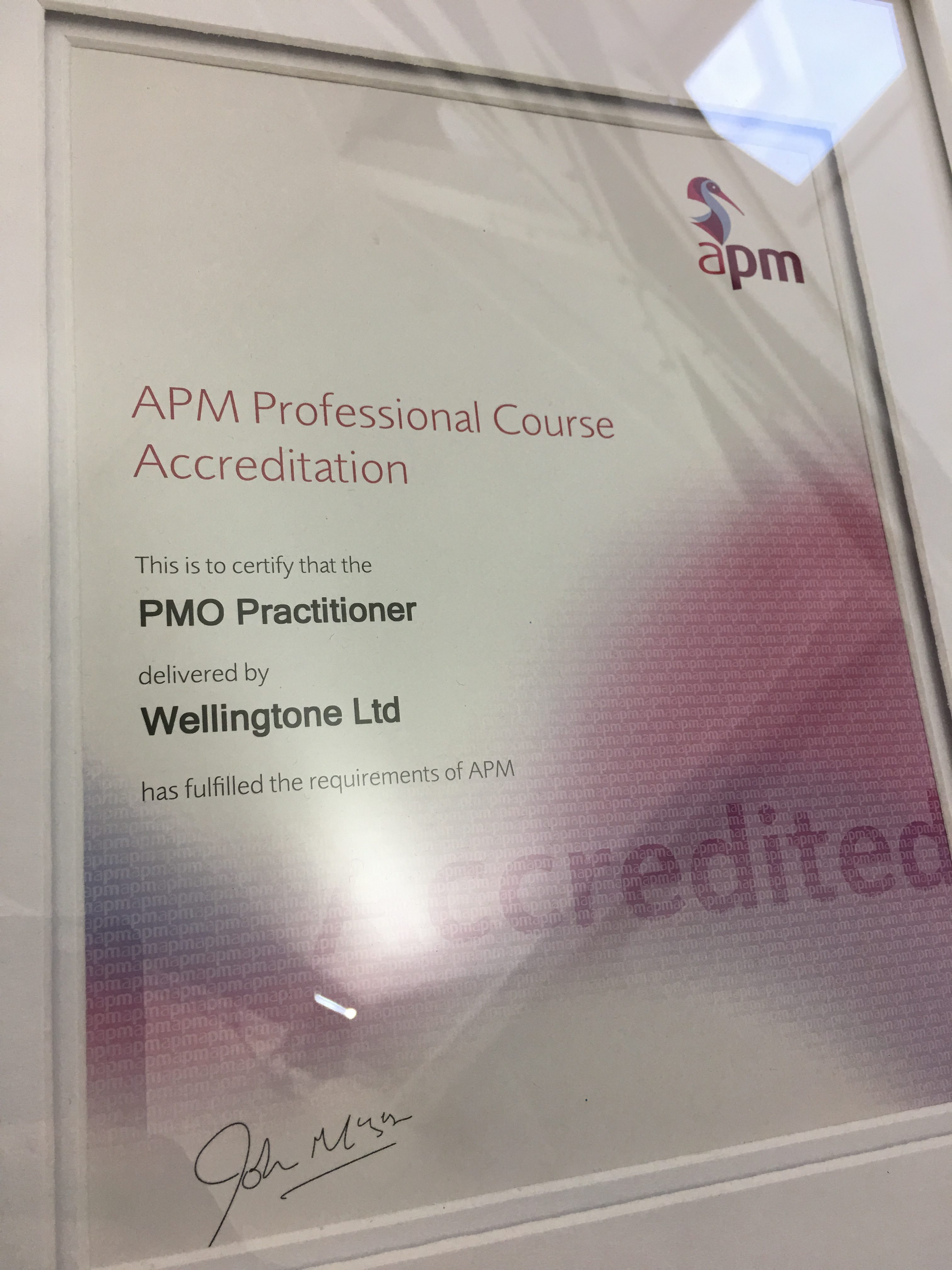 APM Accredited PMO Practitioner